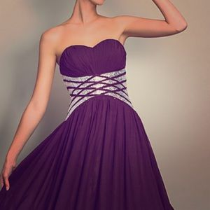 Dresses & Skirts - Dark purple evening gown for a wedding or prom.